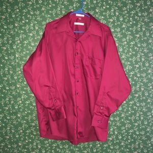 Silky Maroon Dress Shirt